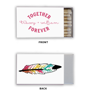 Our personalized Photo/Full Color Matchbox with Matte Fuchsia Ink Print Color will give your party the personalized touch every host desires.