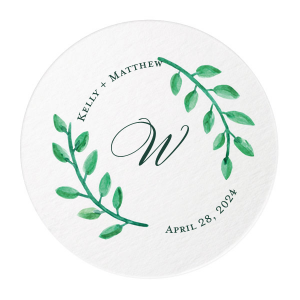 Our personalized White Photo/Full Color Round Coaster with Matte Spruce Digital Print Colors will make your guests swoon. Personalize your party's theme today.