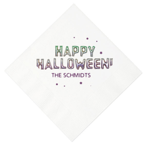 The ever-popular White Photo/Full Color Cocktail Napkin with Matte Eggplant Ink Digital Print Colors can be customized to complement every last detail of your party.