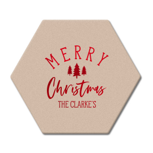 Custom Eggshell Square Coaster with Shiny Convertible Red Foil has a Forest graphic and is good for use in Christmas, Floral themed parties and will look fabulous with your unique touch. Your guests will agree!