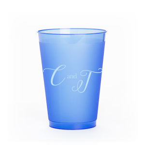 ForYourParty's personalized Matte Stone Blue Ink 9 oz Frost Flex Cup with Matte Stone Blue Ink Cup Ink Colors couldn't be more perfect. It's time to show off your impeccable taste.