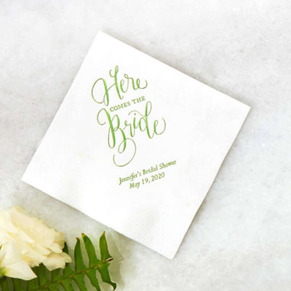 Tail Napkins Personalized Party And Wedding For Your