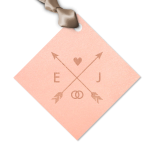 Hearts and Arrows Wedding Tag