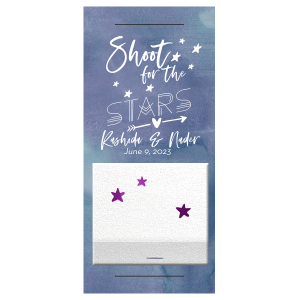 ForYourParty's elegant Watercolor Blue Sky Large Sparkler Sleeve with Matte White Foil are a must-have for your next event—whatever the celebration!