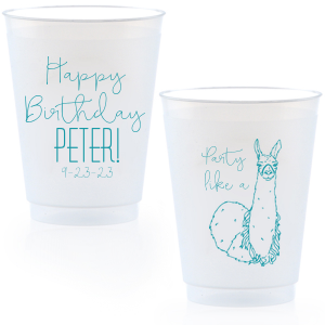 Party Like a Llama Frost Flex Cup