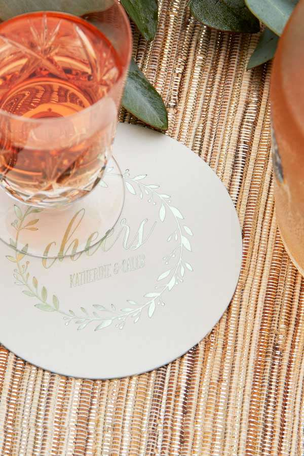 Round Wedding Coaster