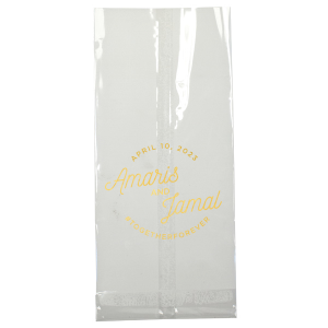 ForYourParty's chic Sand Gift Bag with Matte White Foil can be personalized to match your party's exact theme and tempo.