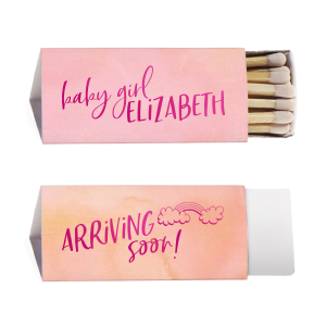 Our custom Watercolor Rose Lipstick Matchbox with Shiny Fuchsia Foil has a Rainbow graphic and is good for use in Baby Shower themed parties and couldn't be more perfect. It's time to show off your impeccable taste.