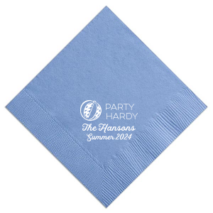 ForYourParty's elegant French Blue Cocktail Napkin with Matte White Foil can be customized to complement every last detail of your party.