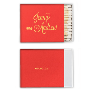 ForYourParty's elegant Poptone Peach Classic Matchbox with Shiny Merlot Foil will look fabulous with your unique touch. Your guests will agree!