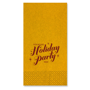 Personalized Super Gold Shimmer Cocktail Napkin with Matte Merlot Foil can be customized to complement every last detail of your party.
