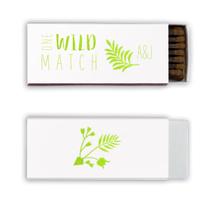 The ever-popular Shiny White 40 Strike Match with Shiny Kiwi / Lime Foil Color has a Leaves graphic and is good for use in Floral themed parties and couldn't be more perfect. It's time to show off your impeccable taste.