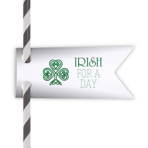 The ever-popular Natural Frost White Wave Straw Tag with Shiny Leaf Foil has a clover knot graphic and is good for use in Floral, St. Patricks Day themed parties and will add that special attention to detail that cannot be overlooked.