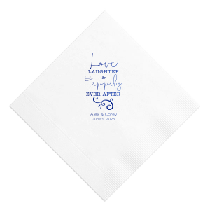 ForYourParty's chic White Cocktail Napkin with Shiny Turquoise Foil has a Fancy Flourish 5 graphic and is good for use in Accents themed parties and will add that special attention to detail that cannot be overlooked.