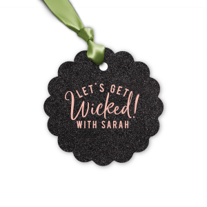 Our custom Glitter Black Oval Gift Tag with Matte Pastel Pink Foil will add that special attention to detail that cannot be overlooked.
