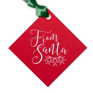 ForYourParty's elegant Poptone Convertible Red Diamond Gift Tag with Matte White Foil Color has a Lights graphic and is good for use in Holiday, Christmas themed parties and can't be beat. Showcase your style in every detail of your party's theme!