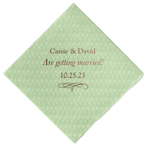 The ever-popular Watercolor Sangria Cocktail Napkin with Matte Key Lime Foil has a Flourish 14 graphic and are a must-have for your next event—whatever the celebration!
