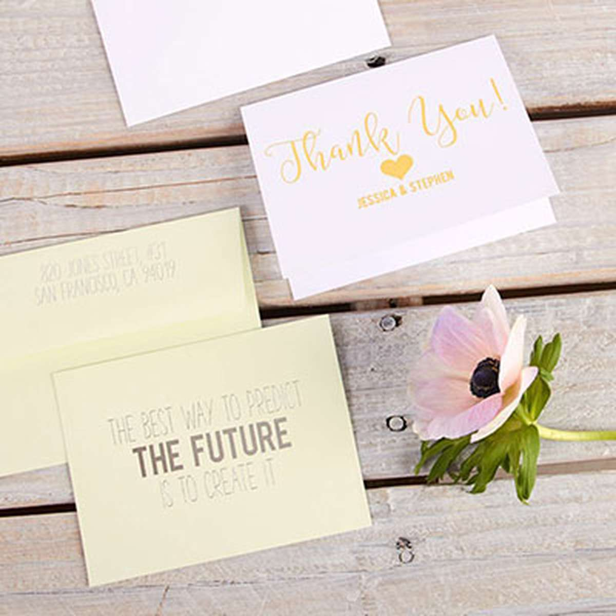 Custom Note Cards Personalized Stationery For Your Party