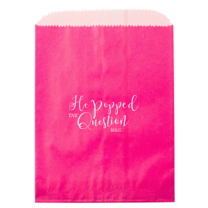 ForYourParty's personalized Satin Copper Penny Small Cellophane Bag with Satin Copper Penny Foil will impress guests like no other. Make this party unforgettable.