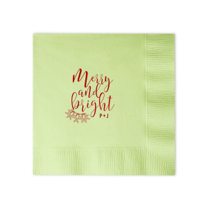 Custom Honeydew Cocktail Napkin with Shiny Convertible Red Foil has a Lights graphic and is good for use in Holiday, Christmas themed parties and are a must-have for your next event—whatever the celebration!