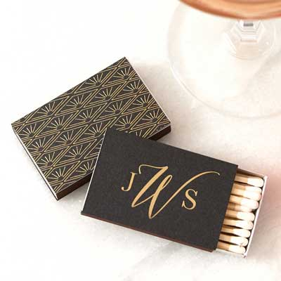 Elegant Monogram Deco Match