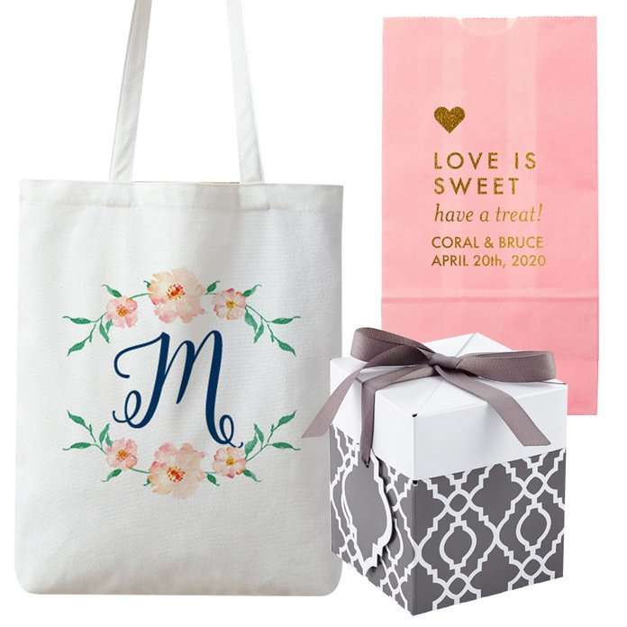 custom bags to use for wedding welcome bags