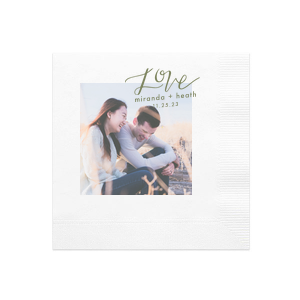 Love Couple Photo/Full Color Napkin