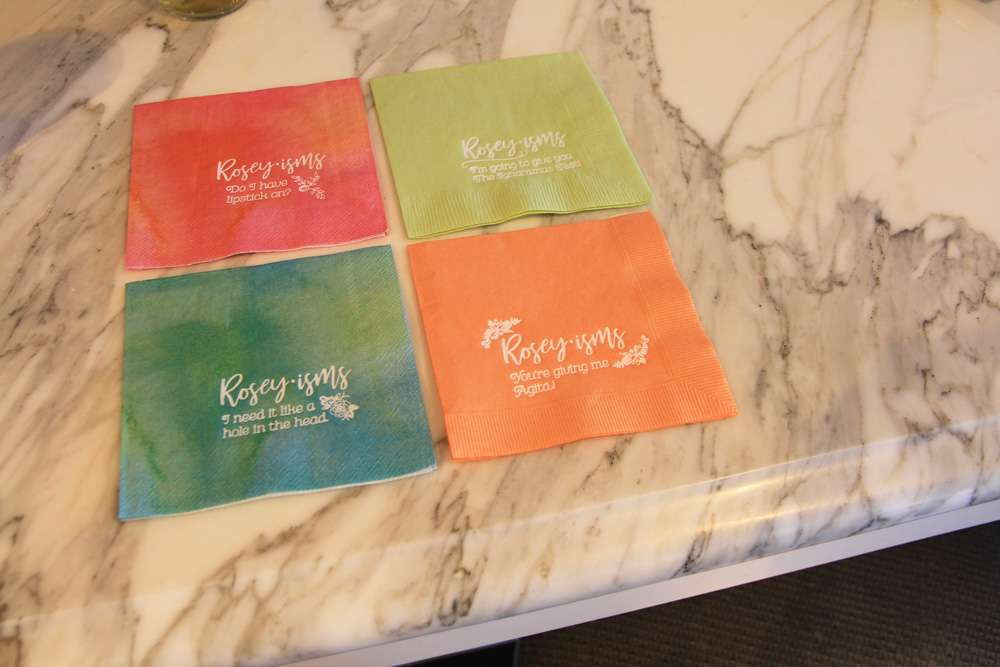 fun sayings on different cocktail napkins for party napkins