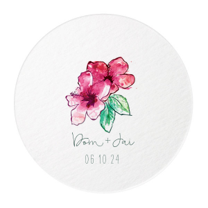 ForYourParty's personalized White Photo/Full Color Round Coaster with Matte Spruce Digital Print Colors can be customized to complement every last detail of your party.
