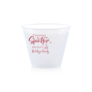 Our custom Matte Lipstick Red Ink 10 oz Frost Flex Cup with Matte Lipstick Red Ink Cup Ink Colors has a Martini Glass graphic and is good for use in Drinks themed parties and are a must-have for your next event—whatever the celebration!