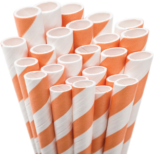 ForYourParty's chic Orange Stripe Striped Straw will give your party the personalized touch every host desires.