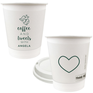Love Birds Coffee Paper Cup