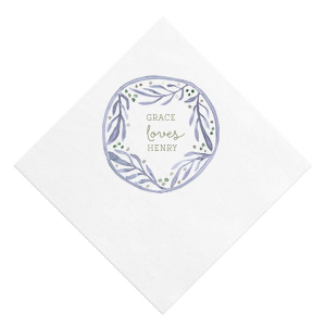 Our personalized White Photo/Full Color Cocktail Napkin with Matte Army Green Ink Digital Print Colors are a must-have for your next event—whatever the celebration!