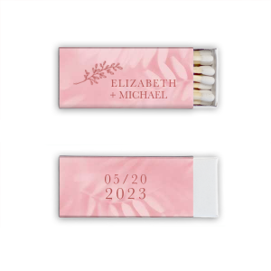 Our beautiful custom Stardream Ballet Pink Classic Matchbox with Shiny Rose Quartz Foil has a Rustic Floral Accent 2 graphic and is good for use in Accents, Wedding, Anniversary themed parties and can be personalized to match your party's exact theme and tempo.