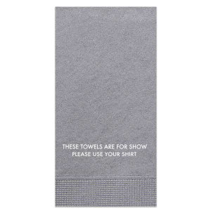 The ever-popular Galvanized Silver Guest Towel with Matte White Foil will add that special attention to detail that cannot be overlooked.