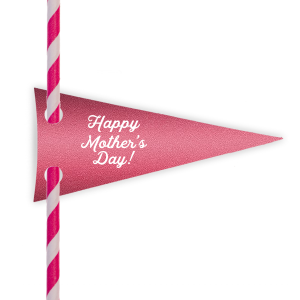 Happy Mother's Day Straw Tag