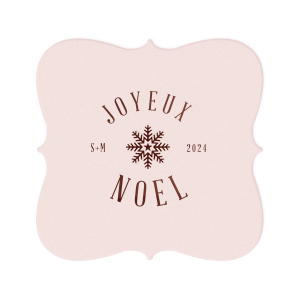ForYourParty's personalized Blush with Kraft back Nouveau Coaster with Shiny Merlot Foil has a Snowflake 3 graphic and is good for use in Christmas themed parties and will make your guests swoon. Personalize your party's theme today.
