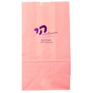 Personalized Hot Pink Party Bag with Shiny Amethyst Foil can't be beat. Showcase your style in every detail of your party's theme!