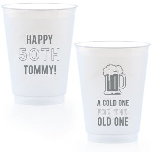 Our beautiful custom Matte Slate Gray Ink 16 oz Frost Flex Cup with Matte Slate Gray Ink Cup Ink Colors has a Brew graphic and is good for use in Drinks themed parties and couldn't be more perfect. It's time to show off your impeccable taste.