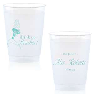 Custom Matte Tiffany Blue Ink 16 oz Frost Flex Cup with Matte Tiffany Blue Ink has a Mermaid graphic and is good for use in Trendy, Beach/Nautical, Outdoors themed parties and will look fabulous with your unique touch. Your guests will agree!