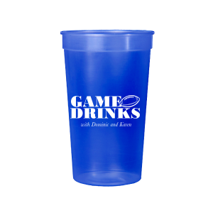 Our beautiful custom Powder Blue 16 oz Stadium Cup with Matte Royal Blue Ink Cup Ink Colors has a Football graphic and is good for use in Sports themed parties and will add that special attention to detail that cannot be overlooked.