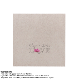 Personalized White Borderless Photo/Full Color Cocktail Napkin with Matte Black Ink Digital Print Colors will add that special attention to detail that cannot be overlooked.