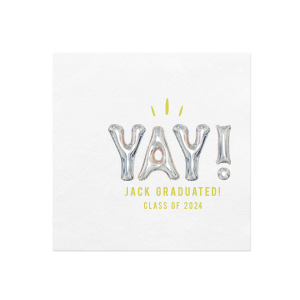 Personalized White Borderless Photo/Full Color Cocktail Napkin with Matte Chartreuse Ink Digital Print Colors are a must-have for your next event—whatever the celebration!