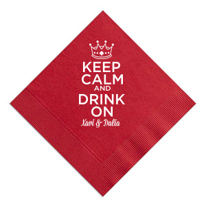 Our custom Convertible Red Cocktail Napkin with Matte White Foil has a Crown 3 graphic and is good for use in Kid Birthday, Princess, Birthday themed parties and can't be beat. Showcase your style in every detail of your party's theme!