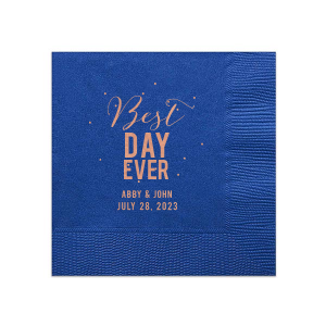 Our beautiful custom Plum Linen Like Cocktail Napkin with Shiny Rose Gold Foil has a Glitter Design graphic and is good for use in Lovely Press themed parties and will look fabulous with your unique touch. Your guests will agree!