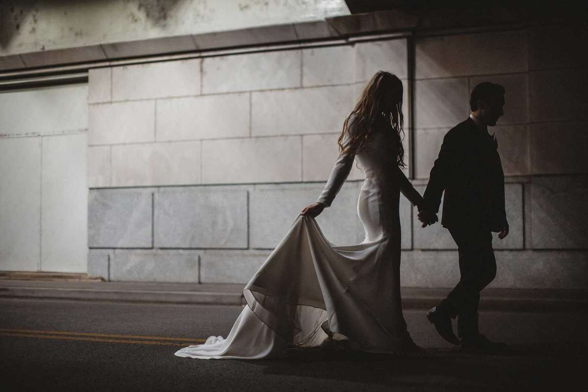 urban wedding photo shoot