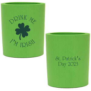 Our custom Spring Green Flat Can Cooler with Matte Key Lime Ink Cup Ink Colors has a Four Leaf Clover graphic and is good for use in Holiday, St. Patricks Day themed parties and will make your guests swoon. Personalize your party's theme today.