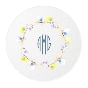 Our custom White Photo/Full Color Round Coaster with Matte Stone Blue Ink Digital Print Colors will look fabulous with your unique touch. Your guests will agree!