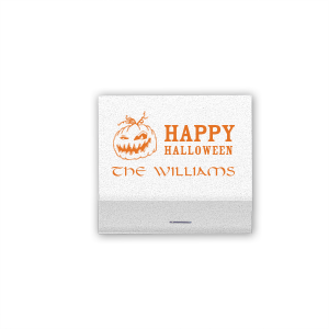 Our custom Shiny White 40 Strike Match with Matte Tangerine Foil Color has a Scary Pumpkin graphic and is good for use in Halloween themed parties and can't be beat. Showcase your style in every detail of your party's theme!