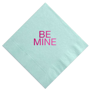 Our beautiful custom Aqua Cocktail Napkin with Shiny Fuchsia Foil can be customized to complement every last detail of your party.